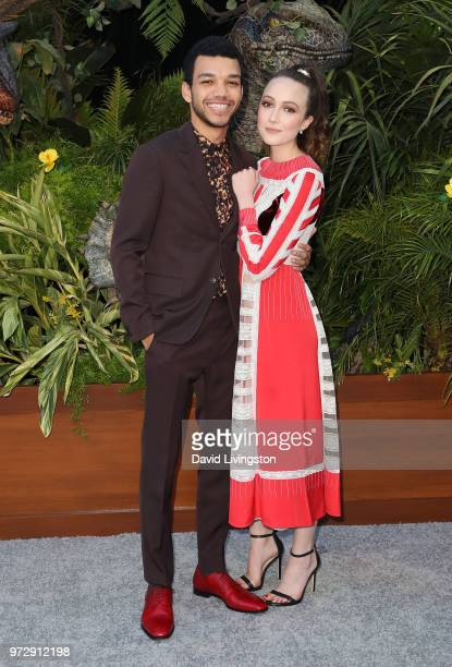 Actor Justice Smith attends the premiere of Universal Pictures and Amblin Entertainment's Jurassic World Fallen Kingdom at Walt Disney Concert Hall...