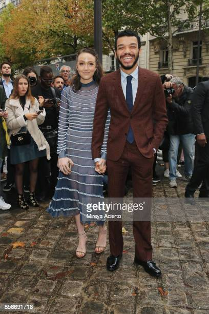 Actor Justice Smith attends the Valentino show as part of the Paris Fashion Week Womenswear Spring/Summer 2018 on October 1 2017 in Paris France