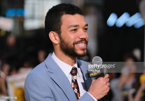 Actor Justice Smith attends the world premiere of 'Pokemon Detective Pikachu' on April 25, 2019 in Tokyo, Japan.