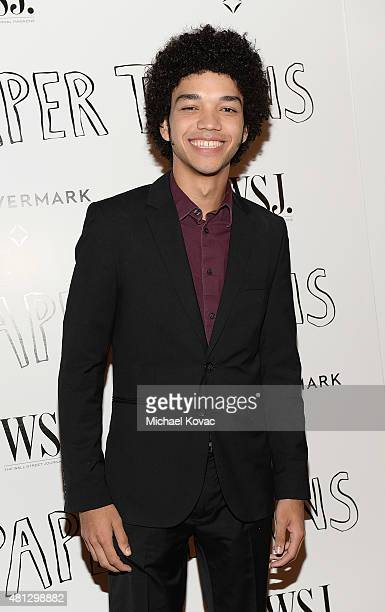 Actor Justice Smith attends WSJ Magazine And Forevermark Host A Special Los Angeles Screening Of Paper Towns at The London West Hollywood on July 18...