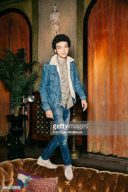 Actor Justice Smith is photographed for The Hollywood Reporter on October 22, 2016 in New York City.