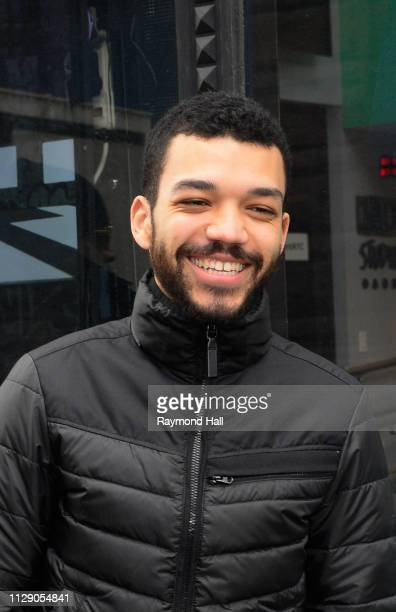 Actor Justice Smith is seen outside aol build on March 7 2019 in New York City