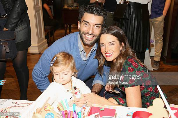 Actor Justin Baldoni and Emily Baldoni attend Brooks Brothers holiday celebration with St Jude Children's Research Hospital on December 3 2016 in...