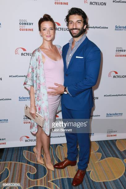 Actor Justin Baldoni and Emily Baldoni attends the 30th Annual Scleroderma Benefit at the Beverly Wilshire Four Seasons Hotel on June 16 2017 in...