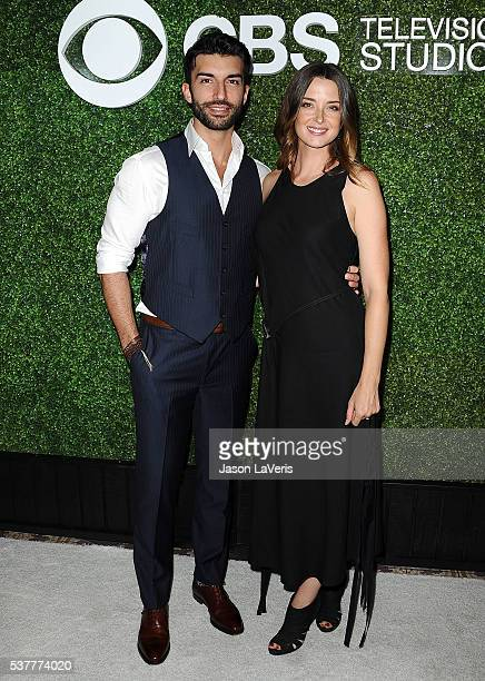 Actor Justin Baldoni and wife Emily Foxler attend the 4th annual CBS Television Studios Summer Soiree at Palihouse on June 2 2016 in West Hollywood...