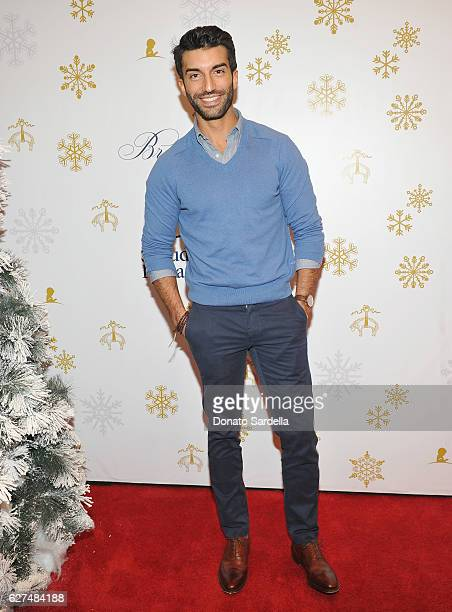 Actor Justin Baldoni attends Brooks Brothers holiday celebration with St Jude Children's Research Hospital on December 3 2016 in Beverly Hills...