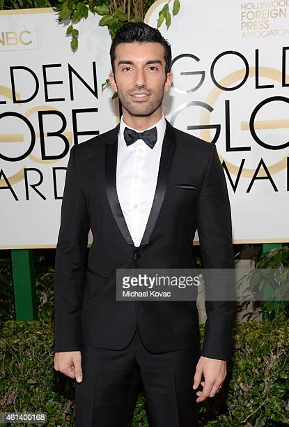 Actor Justin Baldoni attends The Weinstein Company's 2015 Golden Globe Awards After Party with Moet Chandon at The Beverly Hilton Hotel on January 11...