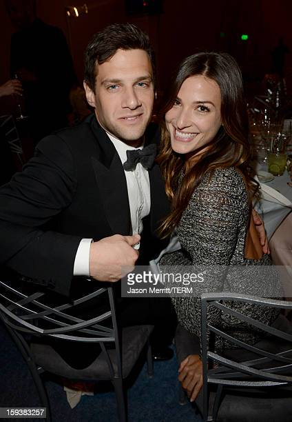 Actor Justin Bartha and Lia Smith attend The Art of Elysium's 6th Annual HEAVEN Gala After Party presented by Audi at 2nd Street Tunnel on January 12...