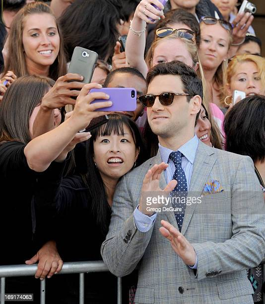 Actor Justin Bartha arrives at the Los Angeles premiere of 'The Hangover III' at Mann's Village Theatre on May 20 2013 in Westwood California