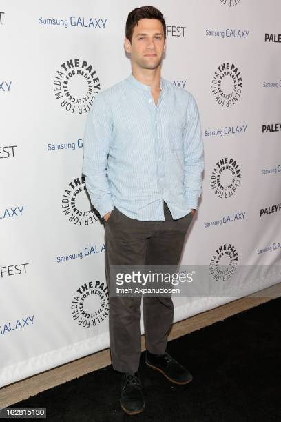 Actor Justin Bartha attends the Inaugural PaleyFest Icon Award honoring Ryan Murphy at The Paley Center for Media on February 27 2013 in Beverly...