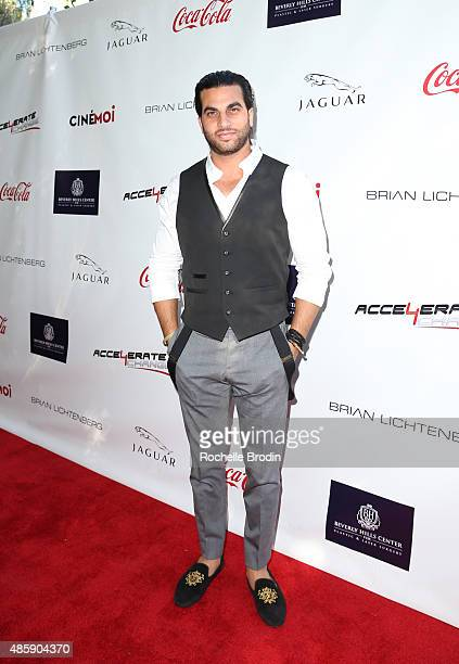 Actor Justin Bina arrives at the Accelerate4Change charity event presented by Dr Ben Talei Cinemoi on August 29 2015 in Beverly Hills California