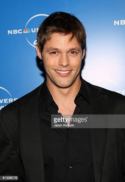 Actor Justin Bruening attends the NBC Universal Experience at Rockefeller Center on May 12 2008 in New York City