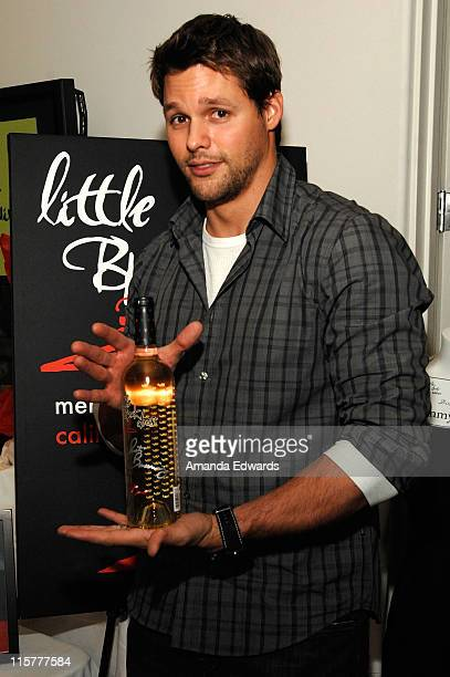 Actor Justin Bruening poses at Little Black Dress Wines at Kari Feinstein Golden Globes Style Lounge held at Zune LA on January 9, 2009 in Los...