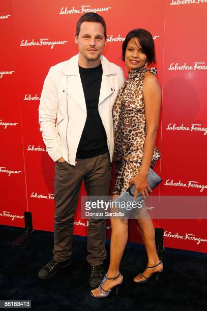 Actor Justin Chamber and wife Keisha Chamber attend the Ferragamo event with Debi Mazar and Adrian Grenier to benefit the L'Aquila earthquake victims...