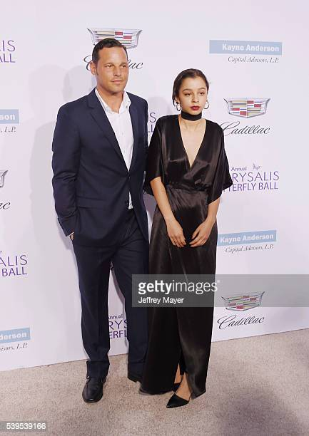 Actor Justin Chambers and daughter Kaila Chambers arrive at the 15th Annual Chrysalis Butterfly Ball at a private residence on June 11 2016 in...