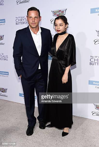 Actor Justin Chambers and his daughter Kaila Chambers arrive at the 15th Annual Chrysalis Butterfly Ball on June 11 2016 in Brentwood California