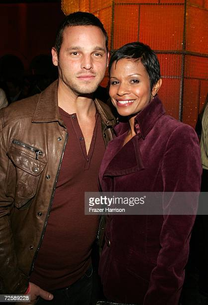 Actor Justin Chambers and his wife Keisha attend the Victoria's Secret Fashion Show after party held at the Hollywood Roosevelt Hotel on November 16...