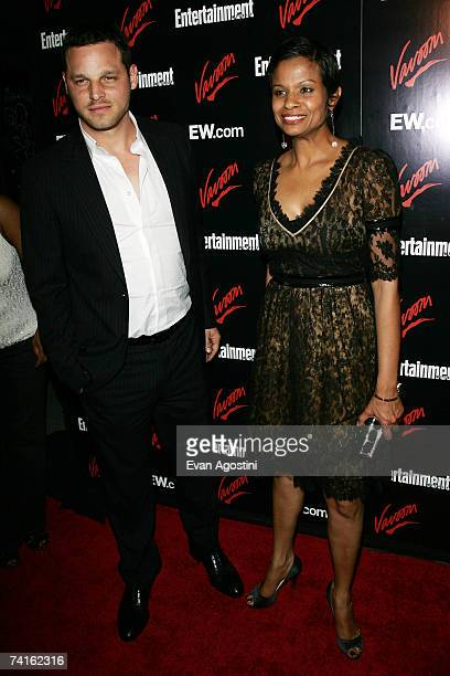 Actor Justin Chambers and his wife Keisha Chambers attend the Upfront Party hosted by Entertainment Weekly and Vavoom at The Box on May 15 2007 in...