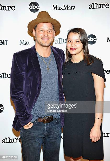 Actor Justin Chambers and Isabella Chambers attend 'MaxMara Allure Celebrate ABC's #TGIT' at MaxMara on November 14 2015 in Beverly Hills California