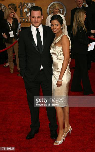 Actor Justin Chambers and Keisha Chambers arrive at the 13th Annual Screen Actors Guild Awards held at the Shrine Auditorium on January 28 2007 in...