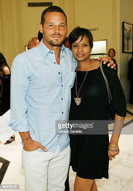 Actor Justin Chambers and Keisha Chambers attend the Kickoff Shopping Party in support of the 7th Annual Chrysalis Butterfly Ball on April 29 2008...