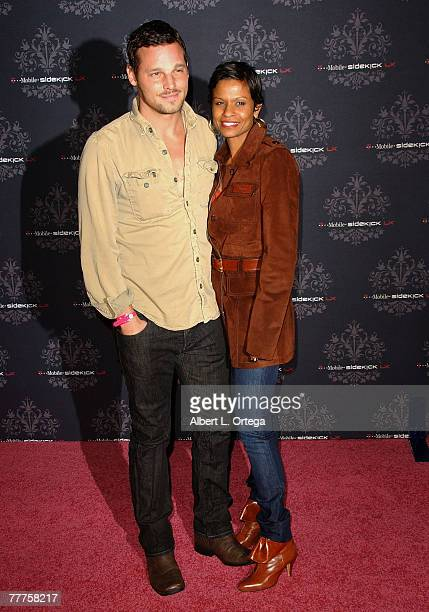 Actor Justin Chambers and wife Keisha arrive at the The Los Angeles launch event for the TMOBILE SIDEKICK LX at The Clubhouse in Griffith Park's...