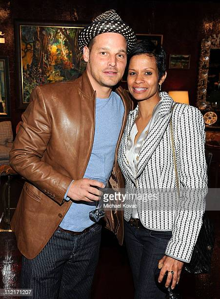 Actor Justin Chambers and wife Keisha attend the PS ARTS Opening Night Party For The LA Antiques Show at Barker Hangar on April 13 2011 in Santa...