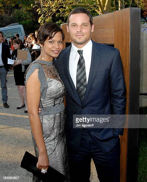 Actor Justin Chambers and wife Keisha Chambers arrive at the 7th Annual Chrysalis Butterfly Ball at a private residence on May 31 2008 in Brentwood...