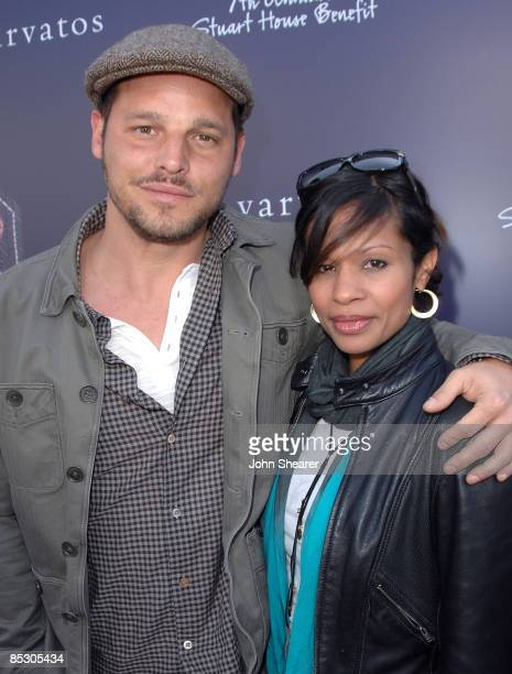 Actor Justin Chambers and wife Keisha Chambers arrive at the 7th annual Stuart House Benefit held by John Varvatos and Converse at John Varvatos...