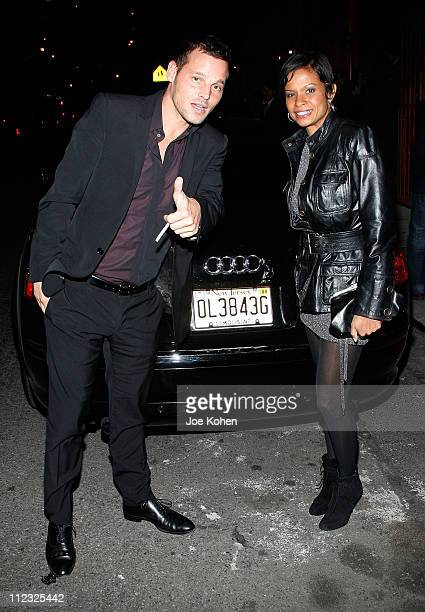 Actor Justin Chambers and wife Keisha Chambers arrive at Wilhelmina's 40th Anniversary Celebrated by Audi on November 29 2007 in New York City New...