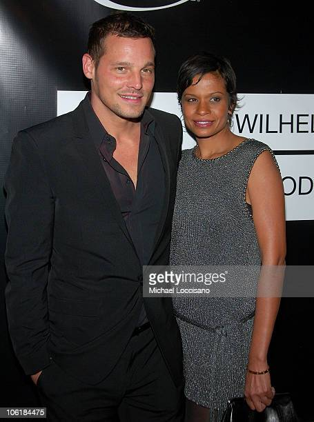 Actor Justin Chambers and wife Keisha Chambers arrive to the 40th Anniversary Celebration of Wilhelmina Models The Angel Orensanz Foundation in New...