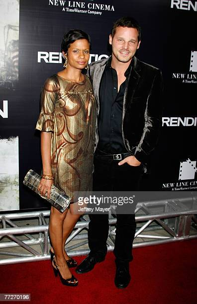 Actor Justin Chambers and wife Keisha Chambers arrive to the premiere of Rendition at the Academy of Motion Picture Arts and Sciences on October 10...
