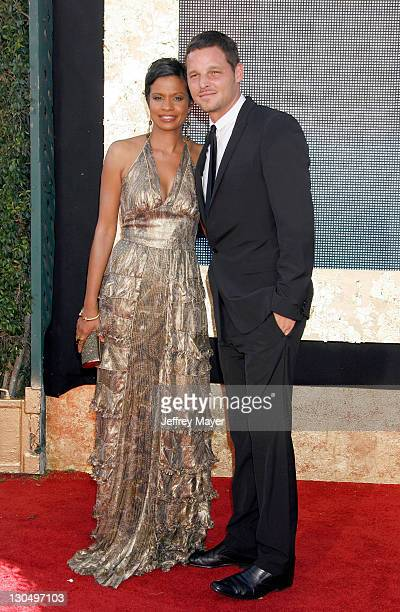 Actor Justin Chambers and wife Keisha CHambers arrives at the 59th Annual Primetime Emmy Awards at the Shrine Auditorium on September 16 2007 in Los...