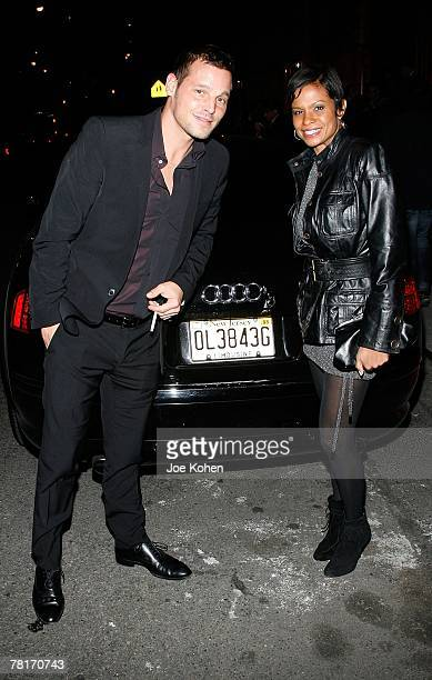 Actor Justin Chambers and wife Keisha Chambers arrives at Wilhelmina's 40th Anniversary Celebrated by Audi on November 29 2007 in New York City New...