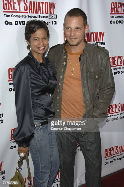 Actor Justin Chambers and wife Keisha Chambers attend Grey's Anatomy Season 2 DVD Launch at Social Hollywood on September 5 2006 in Hollywood...