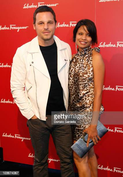 Actor Justin Chambers and wife Keisha Chambers attend the Ferragamo event with Debi Mazar and Adrian Grenier to benefit the L'Aquila earthquake...