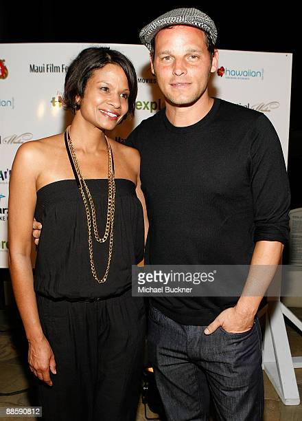Actor Justin Chambers and wife Keisha Chambers attend the Taste of Chocolate during the 10th Annual Maui Film Festival at the Four Seasons Hotel on...