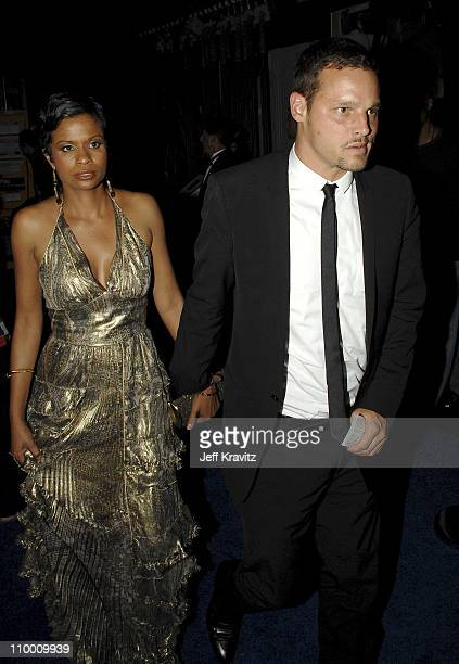 Actor Justin Chambers and wife Keisha Chambers attends the 59th Annual Emmy Awards Governors Ball on September 16th 2007 in Los Angeles California