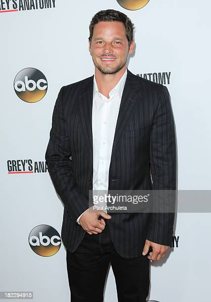Actor Justin Chambers attends the 200th episode celebration of Grey's Anatomy at The Colony on September 28 2013 in Los Angeles California