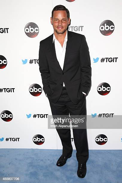 Actor Justin Chambers attends the TGIT Premiere event at Palihouse on September 20 2014 in West Hollywood California