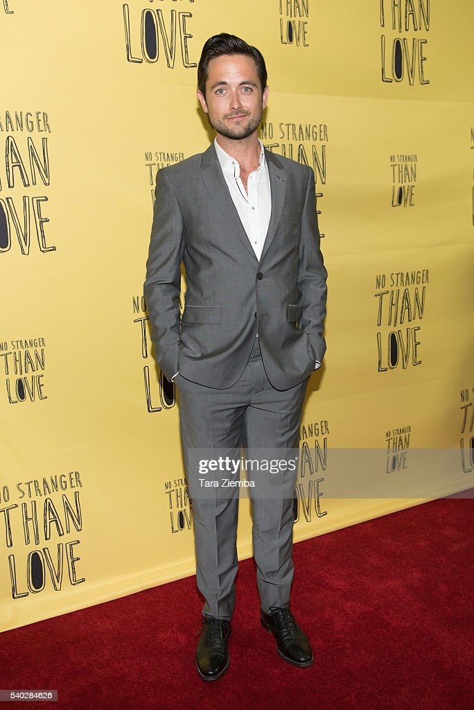 Actor Justin Chatwin attends the premiere of Orion Releasing's 'No Stranger Than Love' at Landmark Theatre on June 14, 2016 in Los Angeles, California.
