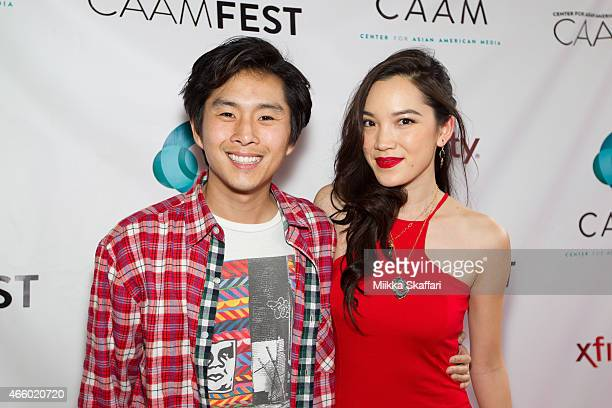 Actor Justin Chon and actress Jessika Van arrive at CAAMFest 2015 opening night film and gala premiere of Seoul Searching at Castro Theater on March...