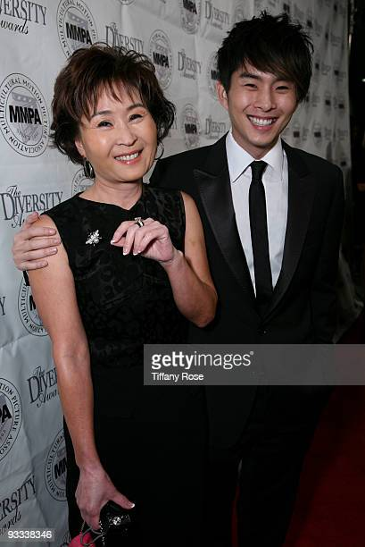 Actor Justin Chon and his mother Kyung Chon attend the 17th Annual Diversity Awards Gala on November 22 2009 in Los Angeles California