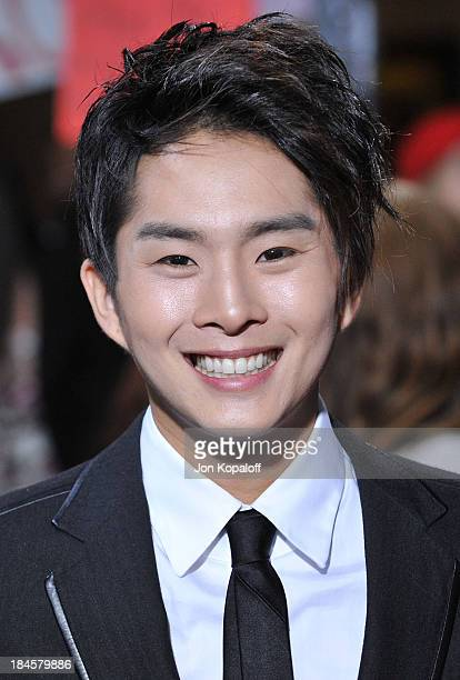 Actor Justin Chon arrives at the Los Angeles Premiere jkThe Twilight Saga New Moon at Mann Bruin Theatre on November 16 2009 in Westwood California