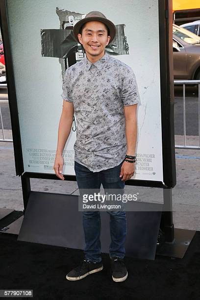 Actor Justin Chon arrives at the premiere of New Line Cinema's Lights Out at the TCL Chinese Theatre on July 19 2016 in Hollywood California