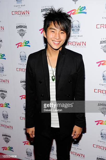 Actor Justin Chon arrives to host an evening at Crown Nightclub on June 12 2010 in Las Vegas Nevada