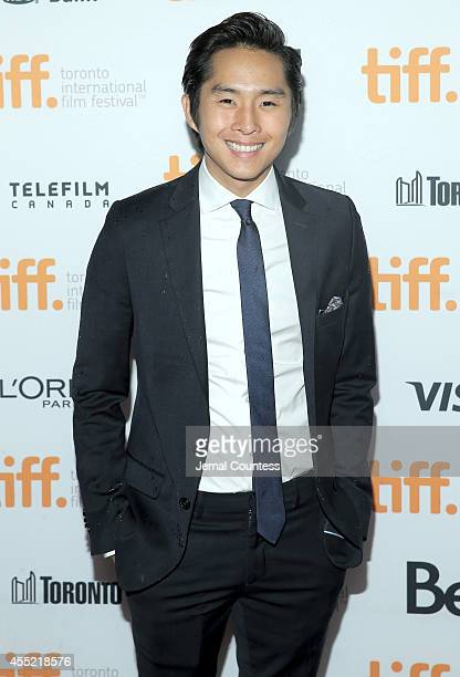 Actor Justin Chon attends the Revenge Of The Green Dragons premiere during the 2014 Toronto International Film Festival at Ryerson Theatre on...