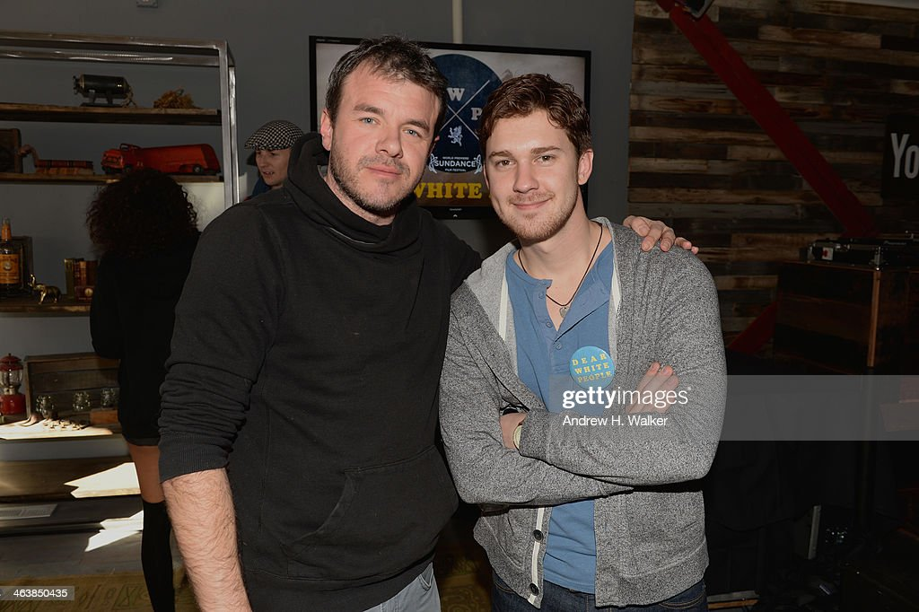 Actor Justin Dobies (R) and guest attend the YouTube 'Dear White People' Reception on January 20, 2014 in Park City, Utah.
