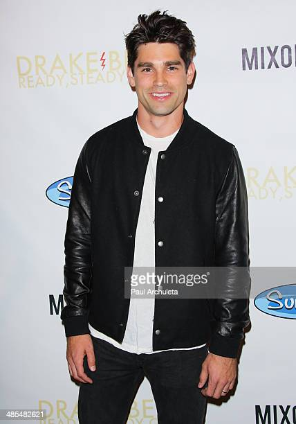 Actor Justin Gaston attends Drake Bell's album release party for Ready Steady Go at Mixology101 Planet Dailies on April 17 2014 in Los Angeles...