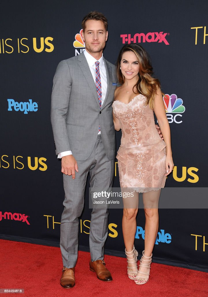 Actor Justin Hartley and actress Chrishell Stause attend the season 2 premiere of 'This Is Us' at NeueHouse Hollywood on September 26, 2017 in Los Angeles, California.
